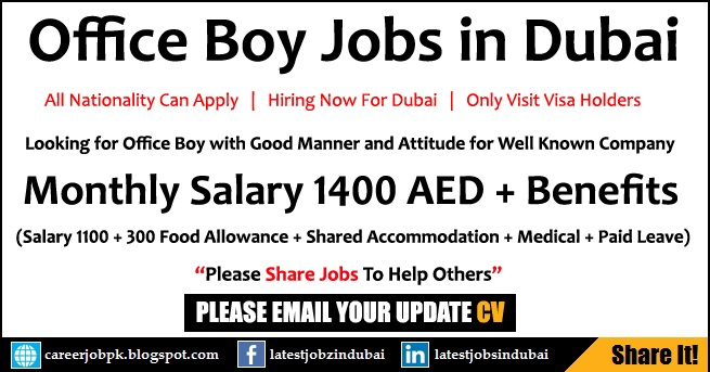 Office Boy Jobs for Visit Visa Holders in Dubai