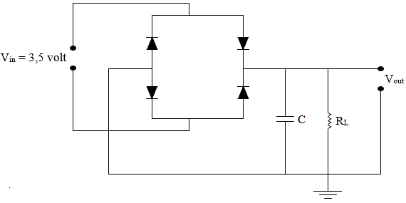 gambar rangkaian penyearah gelombang penuh dengan filter kapasitor