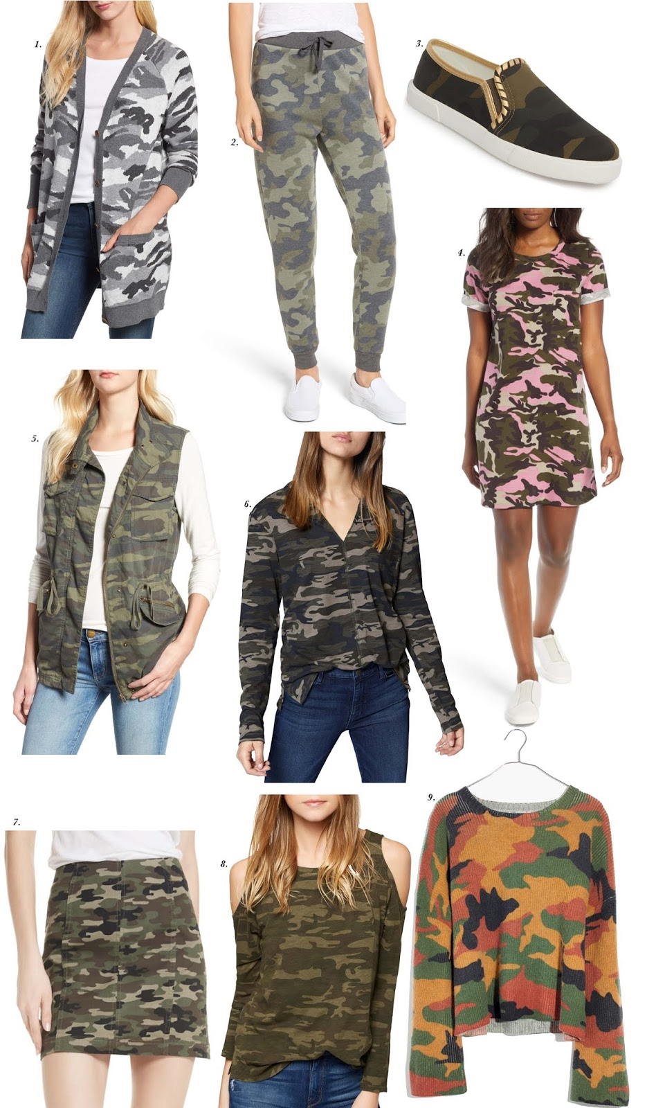 Nine Camo Pieces I'm loving - Something Delightful Blog