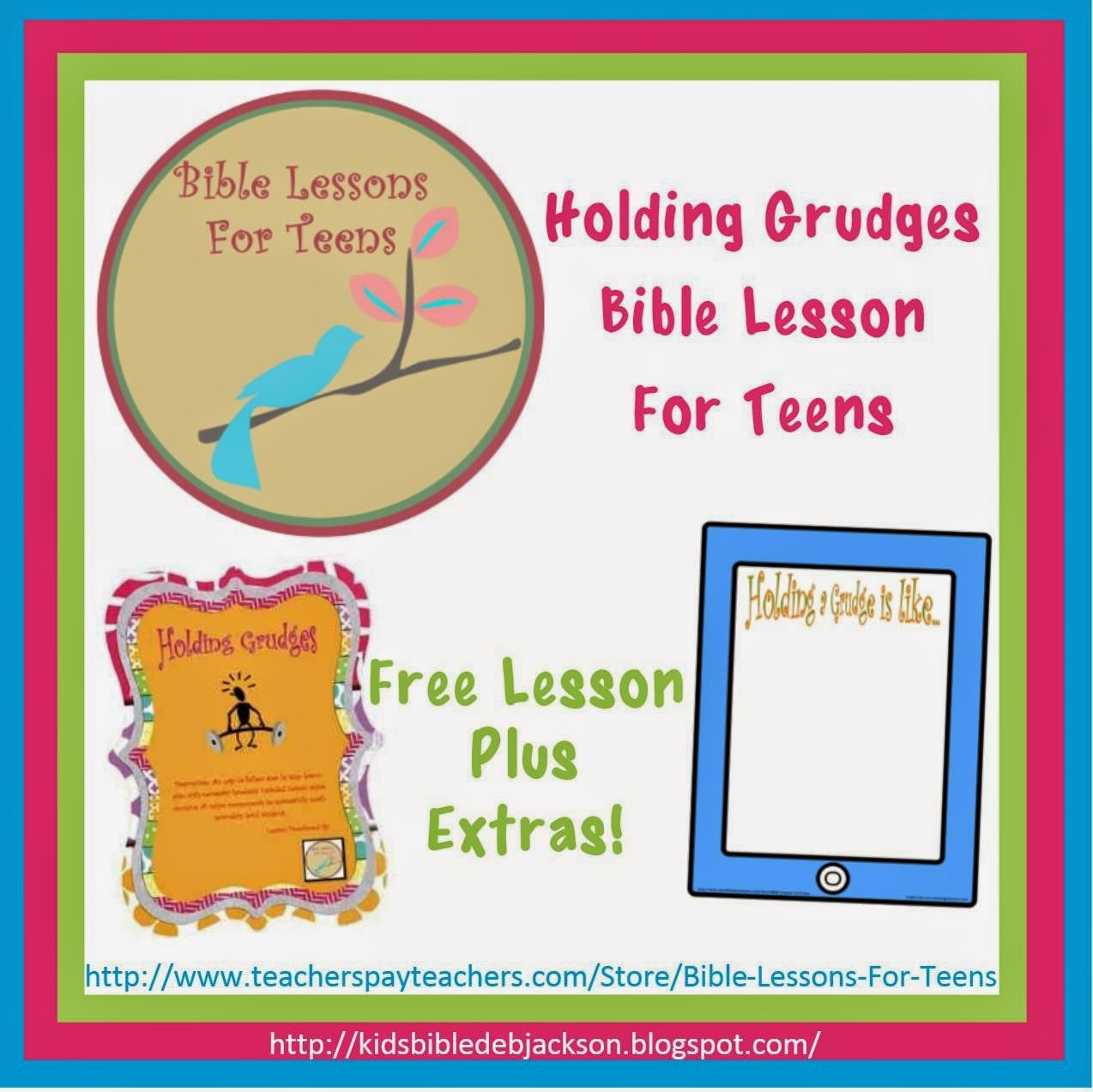 Bible Fun For Kids Holding Grudges Lesson For Teens