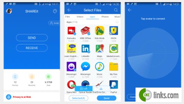 Aplikasi pengirim file paling cepat untuk android