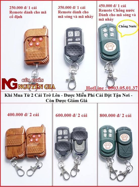 Cung cấp các loại remote cửa cuốn chính hãng