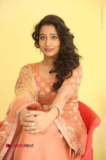 Telugu Actress Santoshi Sharma Latest Stills in Salwar Kameez at HBD Movie Teaser Launch  0074.JPG