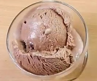 Homemade chocolate ice cream recipe