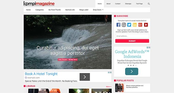 Premium Blogger Magazine Template - Kompi Magazine