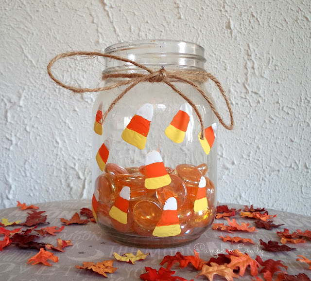 DIY Candy Corn Jar