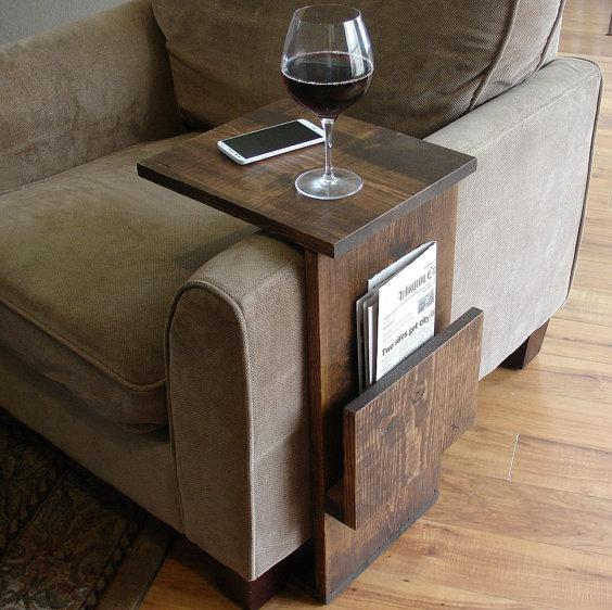 Sofa Armrest Tray Table Stand