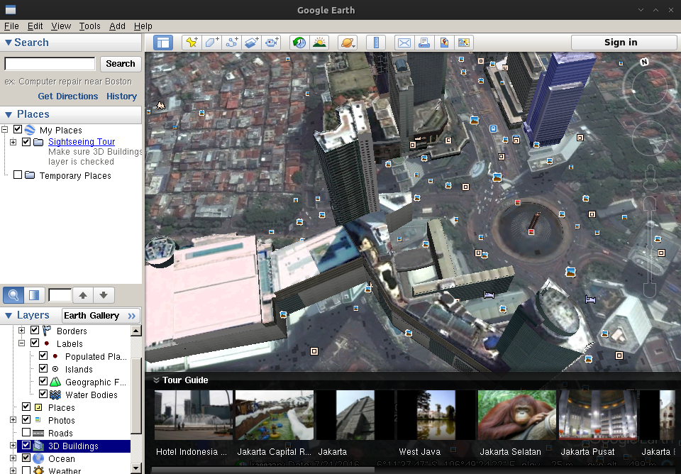 Install Google earth in Archlinux