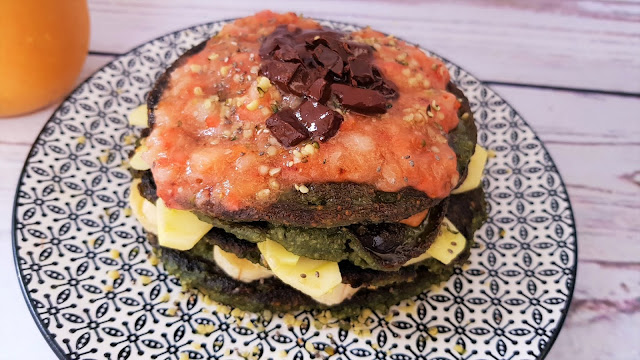 Tortitas veganas de avena con espirulina