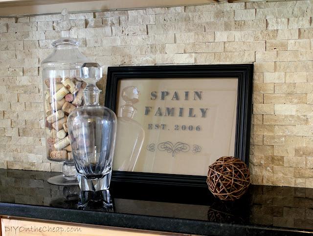Make a Framed Family Sign using Martha Stewart Glass Paint!