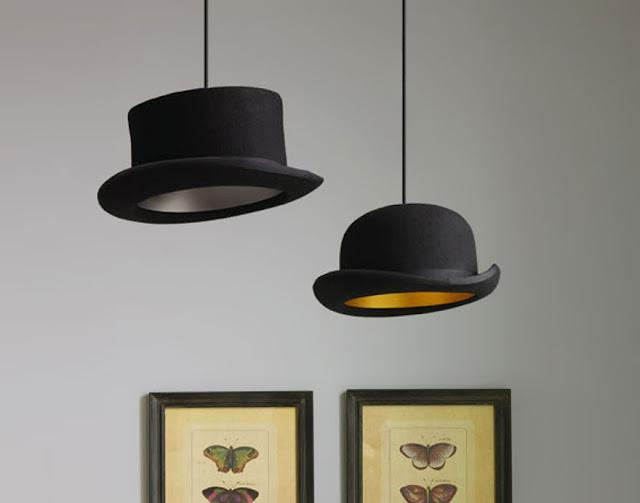 โคมไฟประดิษฐ์จากหมวก