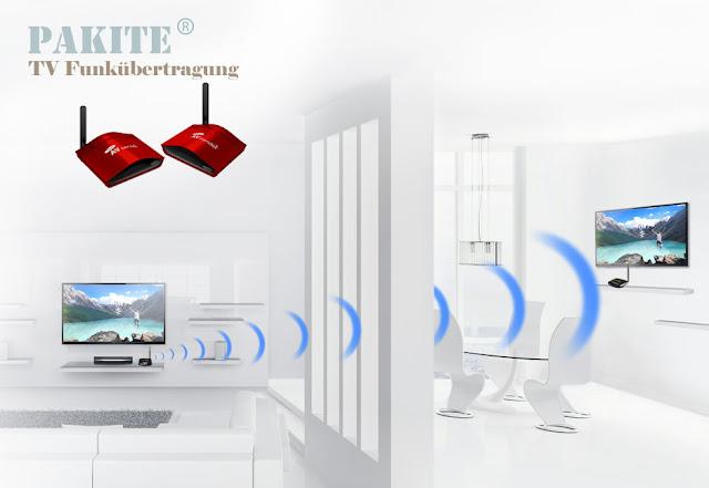 AV-Funkübertragung WLAN Sender Empfänger