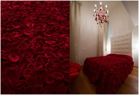 Bedroom With Rose Petals Bedroom Decorating Ideas