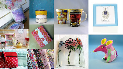 Collage of gifts for Mother's Day