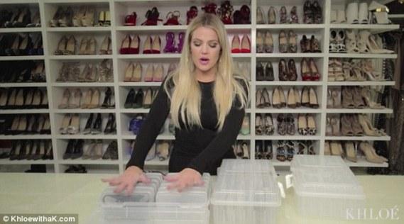 Khloe Kardashian Shows Off Inside Her Massive Shoe Closet