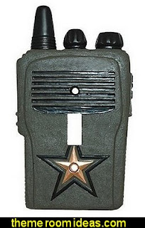 CAMO Military SOLDIER walkie talkie switch plate COVER