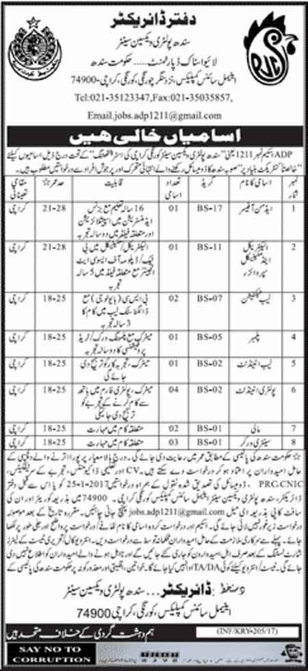 Jobs in Livestock and Dairy Development Department Sindh