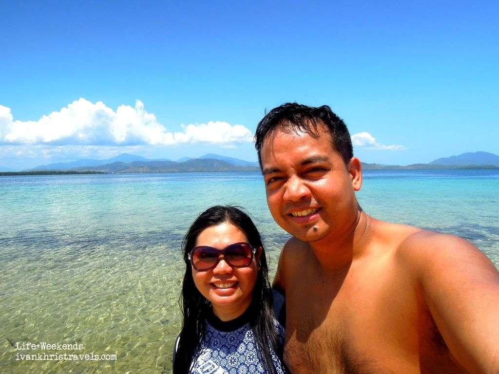 Honda Bay Island Hopping Tour enjoying Starfish Island