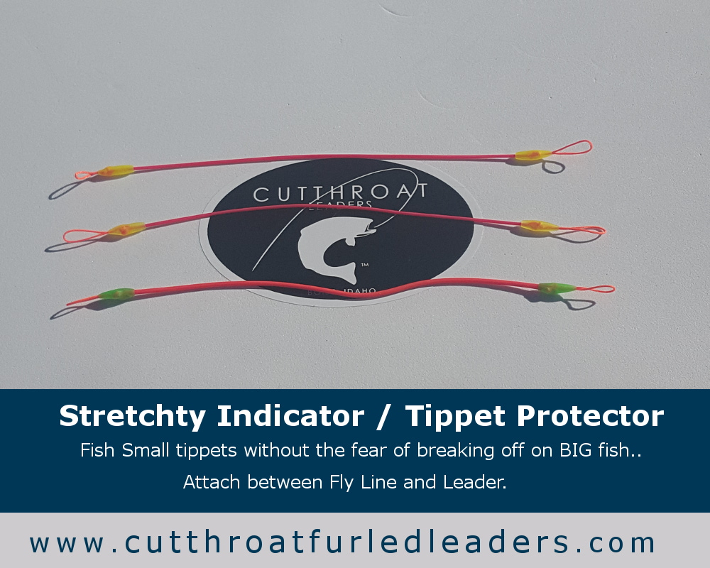 Cutthroat furled leaders for Tippet fly fishing