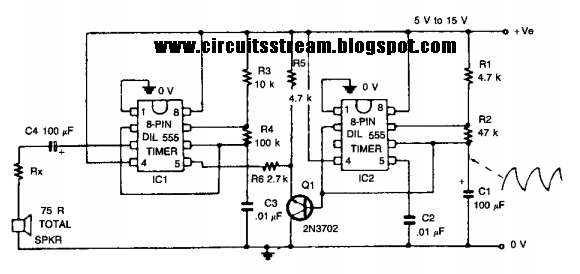 Wailing Alarm Circuit Diagram