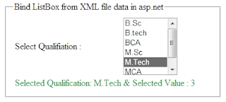 read and bind asp.net ListBox from xml file