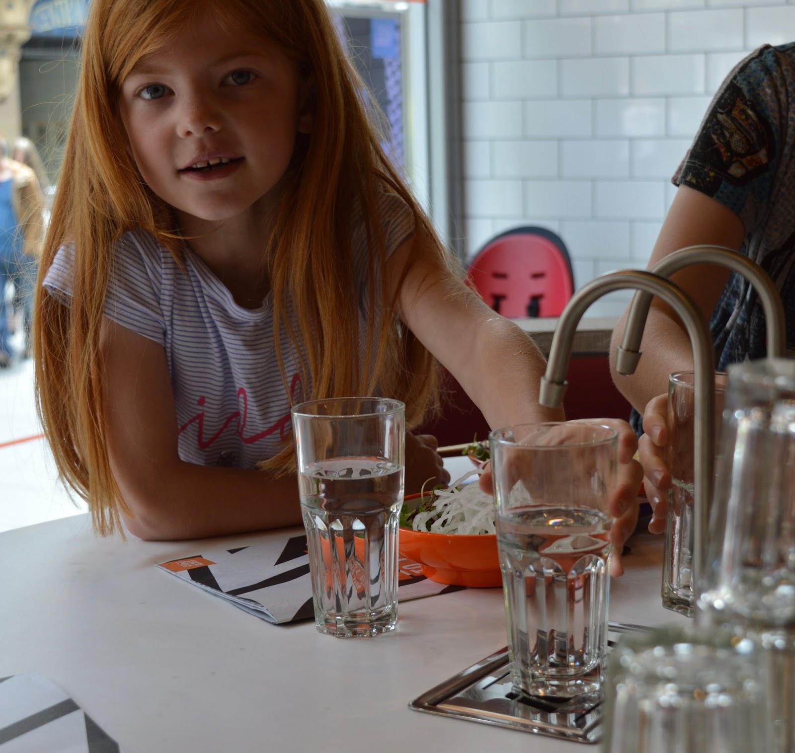 YO! Sushi Newcastle Grainger Street - Kids Menu Review - water tap