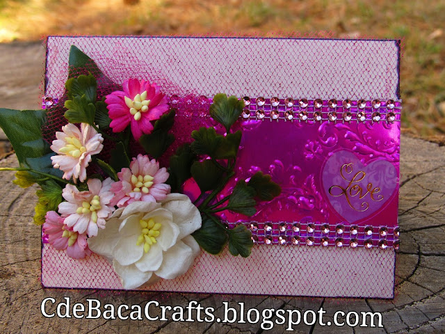 Valentine's Day Card by CdeBaca Crafts blog.