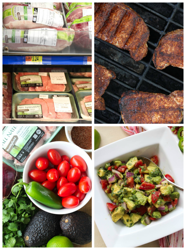 This Grilled Pork Chops with Avocado Salsa recipe is the perfect way to add bold, fresh flavor to your next grilling night or backyard barbecue! #AllNaturalPork @Walmart @SmithfieldFoods #AD