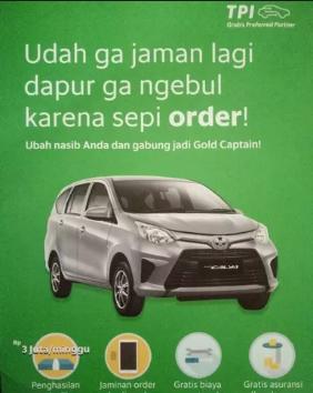 PROGRAM GOLD DRIVER DARI GRAB / TPI