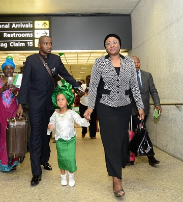 Buhari's Wife Storms Washington DC, USA; Where Is Fayose's FBI? See Photos