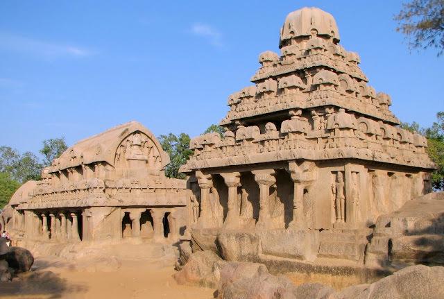 Mahabalipuram Monolithic Stone Chariots - Dharamaraja Ratha -