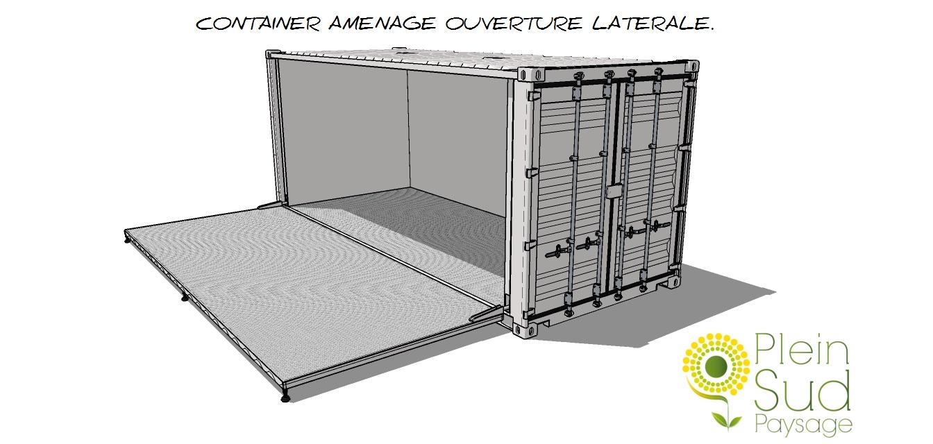 Transformation am nagement modification containers for Amenagement cuisine 13m2