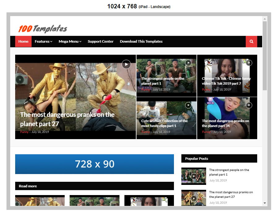 Video download blogger templates free download