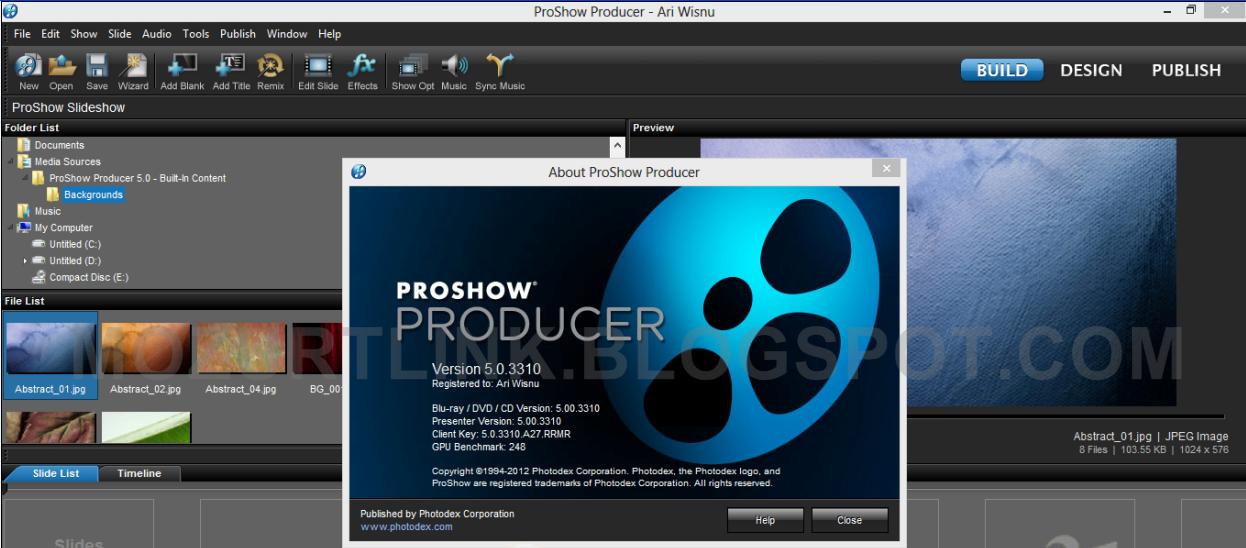 GRATUIT PROSHOW 5.0.3310 TÉLÉCHARGER PRODUCER PHOTODEX