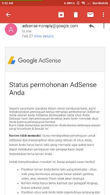 Ternyata Sangat Mudah Daftar Google Adsense Full Aprove