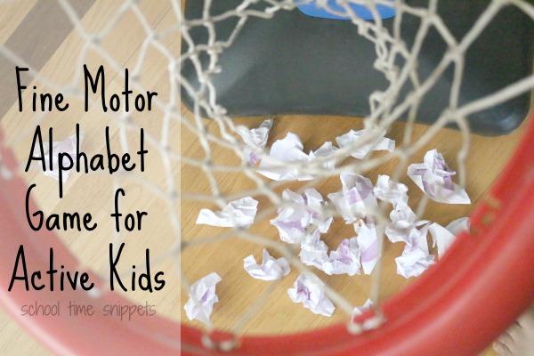 gross motor and fine motor alphabet game
