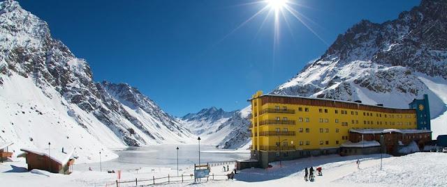 Neve em Los Andes no Chile
