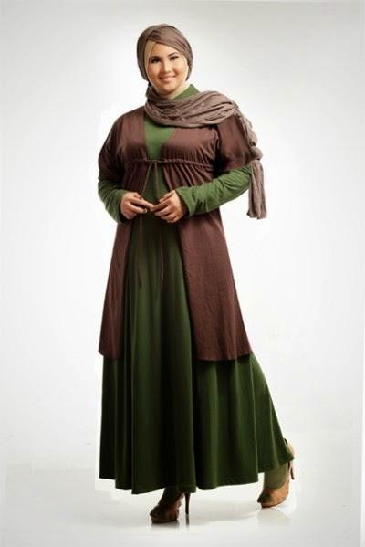 Contoh baju muslim untuk wanita berbadan gemuk
