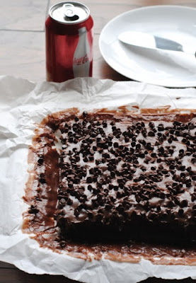 Chocolate Coke Poke Cake