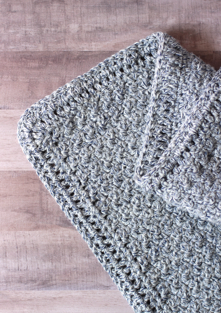 How to add a simple crochet border to a blanket