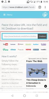 Pastekan link yang Sobat salin tadi kolom pencarian. Lalu klik Dredown.