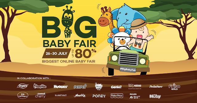promosi huggies, Lazada Malaysia Big Baby Fair, Big Baby Fair, huggies murah,
