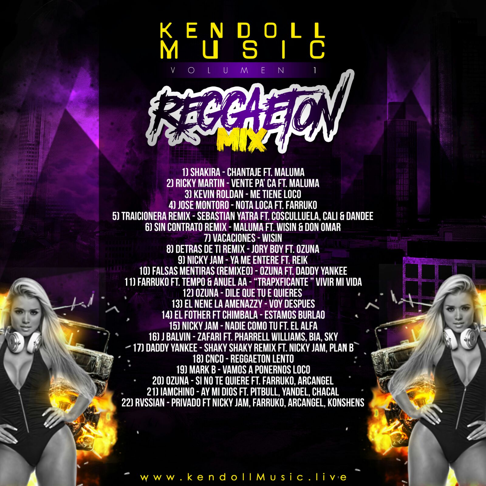 Descarga Cds Kendoll Music Vol 1 Reggaeton Mix 2016 17