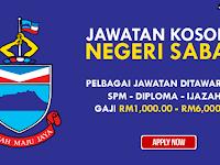 KEKOSONGAN JAWATAN TERKINI DI NEGERI SABAH - GAJI RM1,000.00 - RM6,000.00