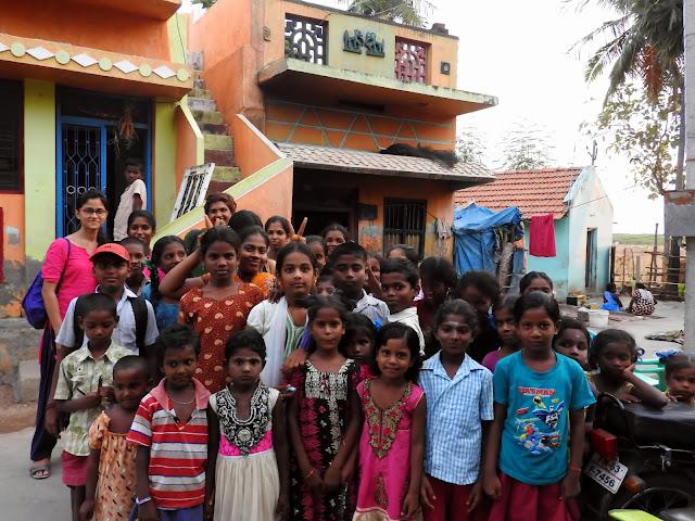 With the students at Manitham | Manamadurai (April 2016)