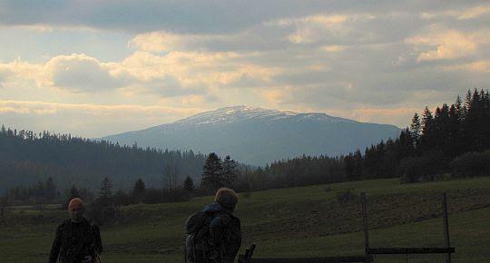 Babia Góra z Przełęczy Bory.