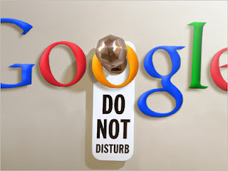 Google doesn't like being disturbed