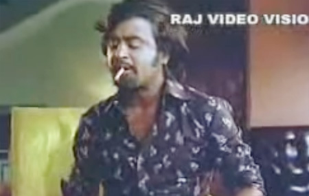 Super Star RAJNIKANTH- Awesome Cigarette Flipping in Style
