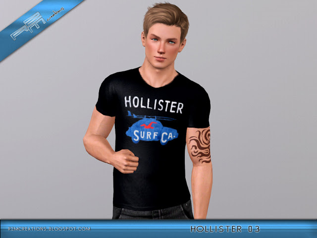 Hollister Sweaters Hollister Hoodies Hollister Shirts Hollister Jacket Hollister Pants Hollister Jeans: My Sims 3 Blog: Hollister Shirts For Males By ReMaron
