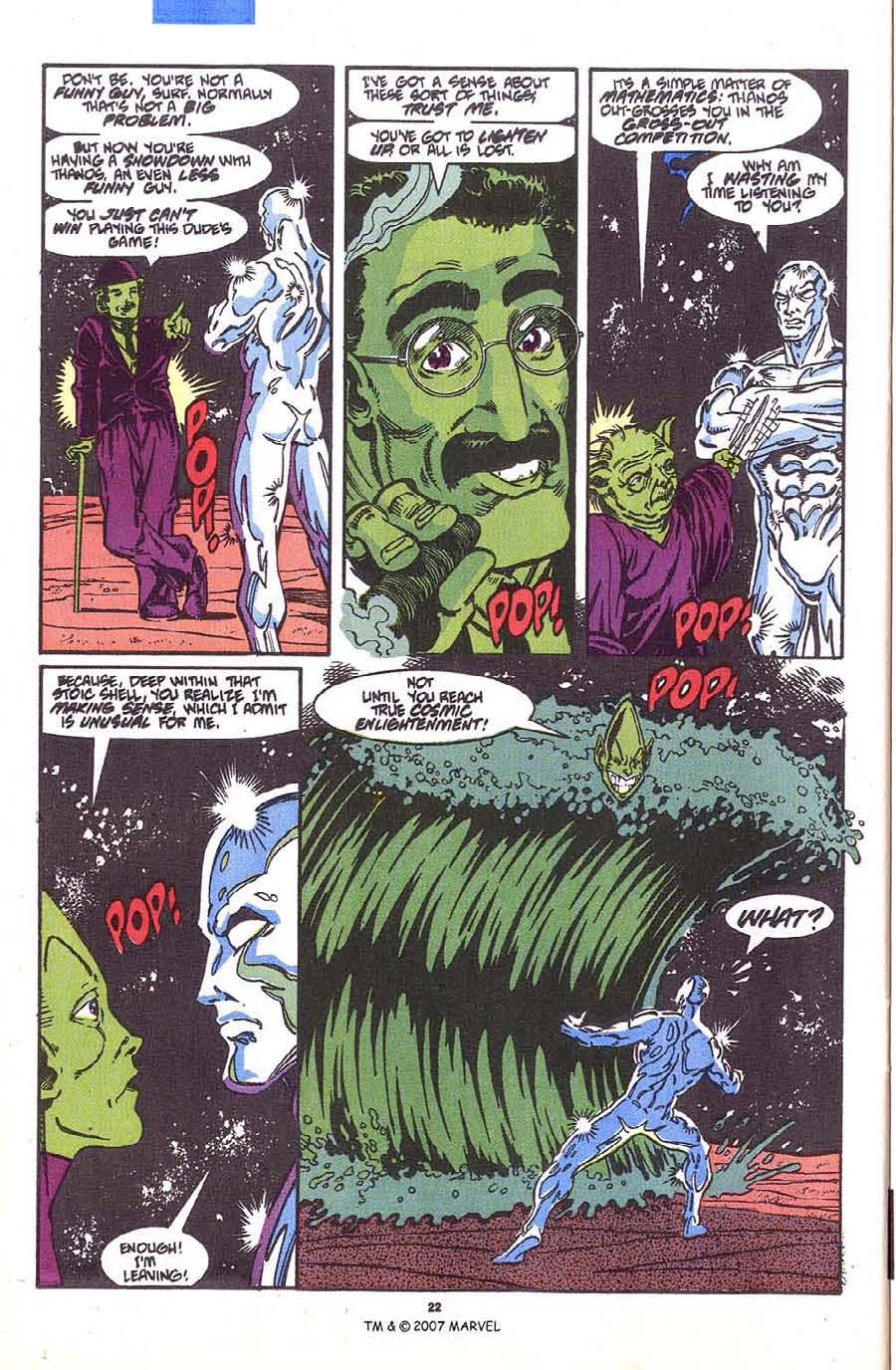 Read online Silver Surfer (1987) comic -  Issue #36 - 24